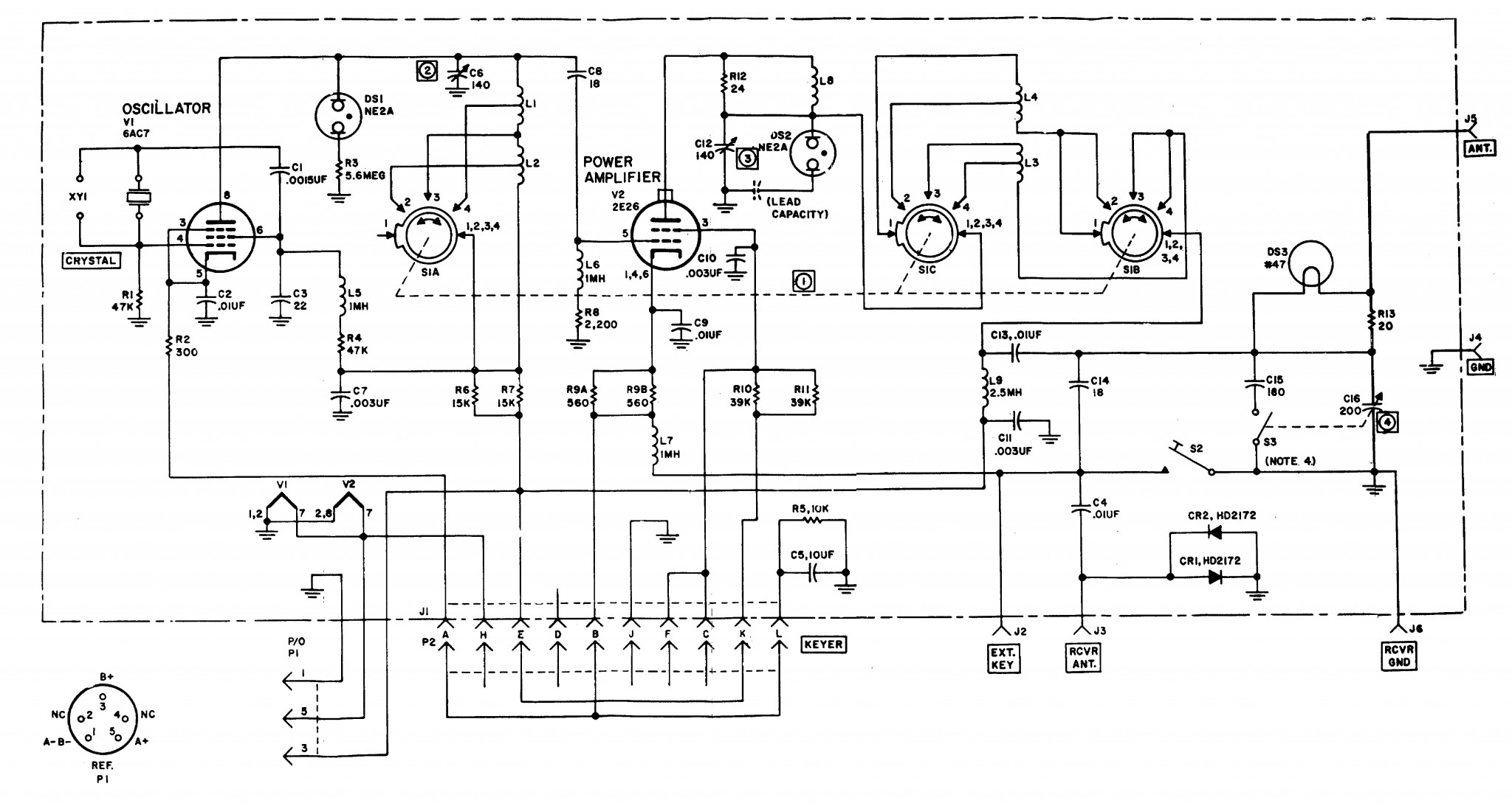 An Grc 109 Special Forces Radio Set N6cc Tx Wiring Diagram T 784 Schematic