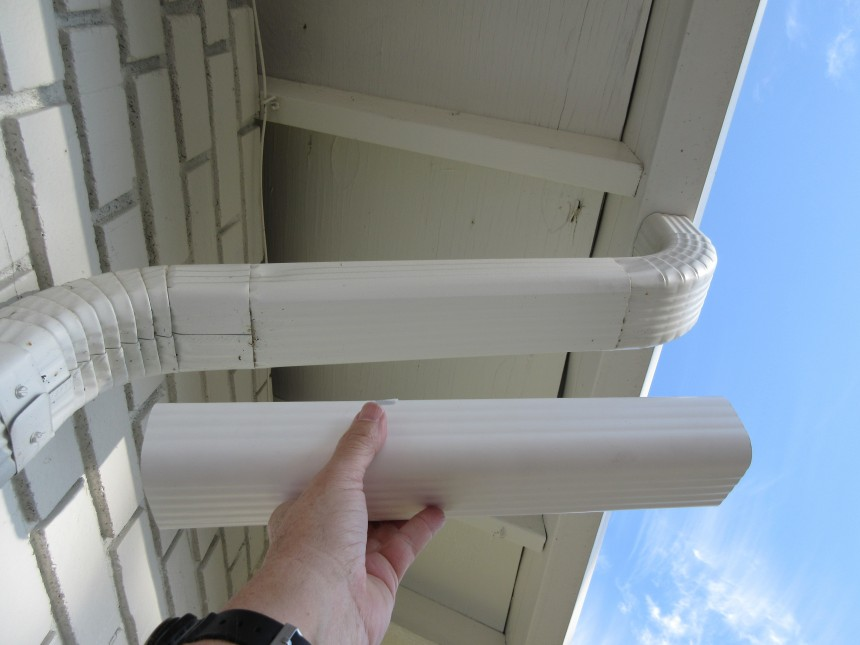 Gutter antenna safety isolation