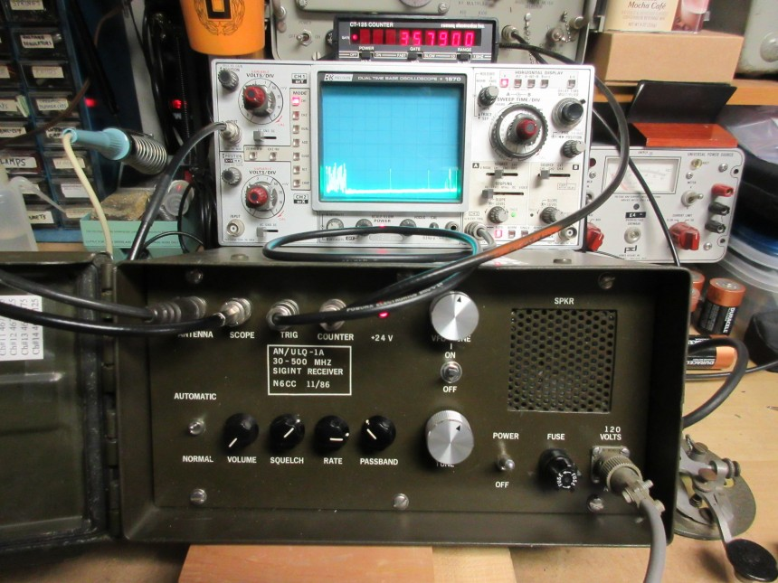 Homebrew SIGINT spectrum Analyser