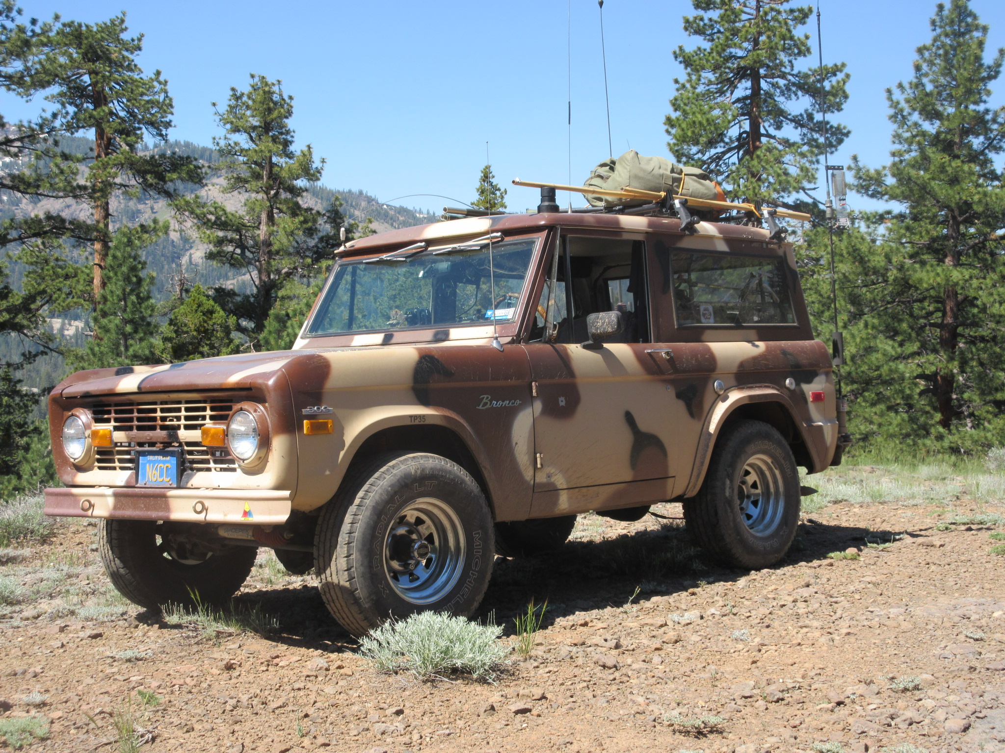Camo Bronco in its element