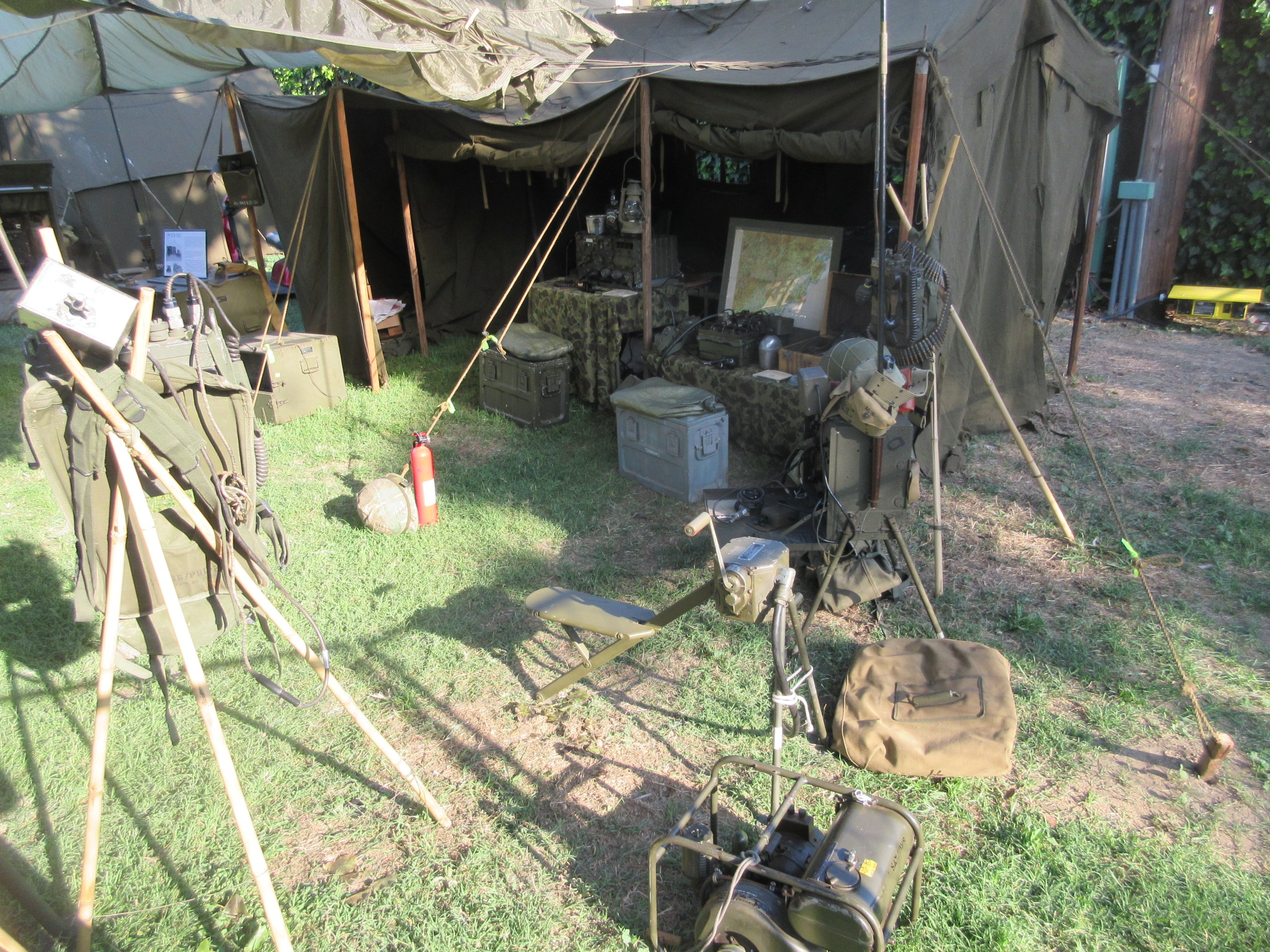Command Post Tent and gear