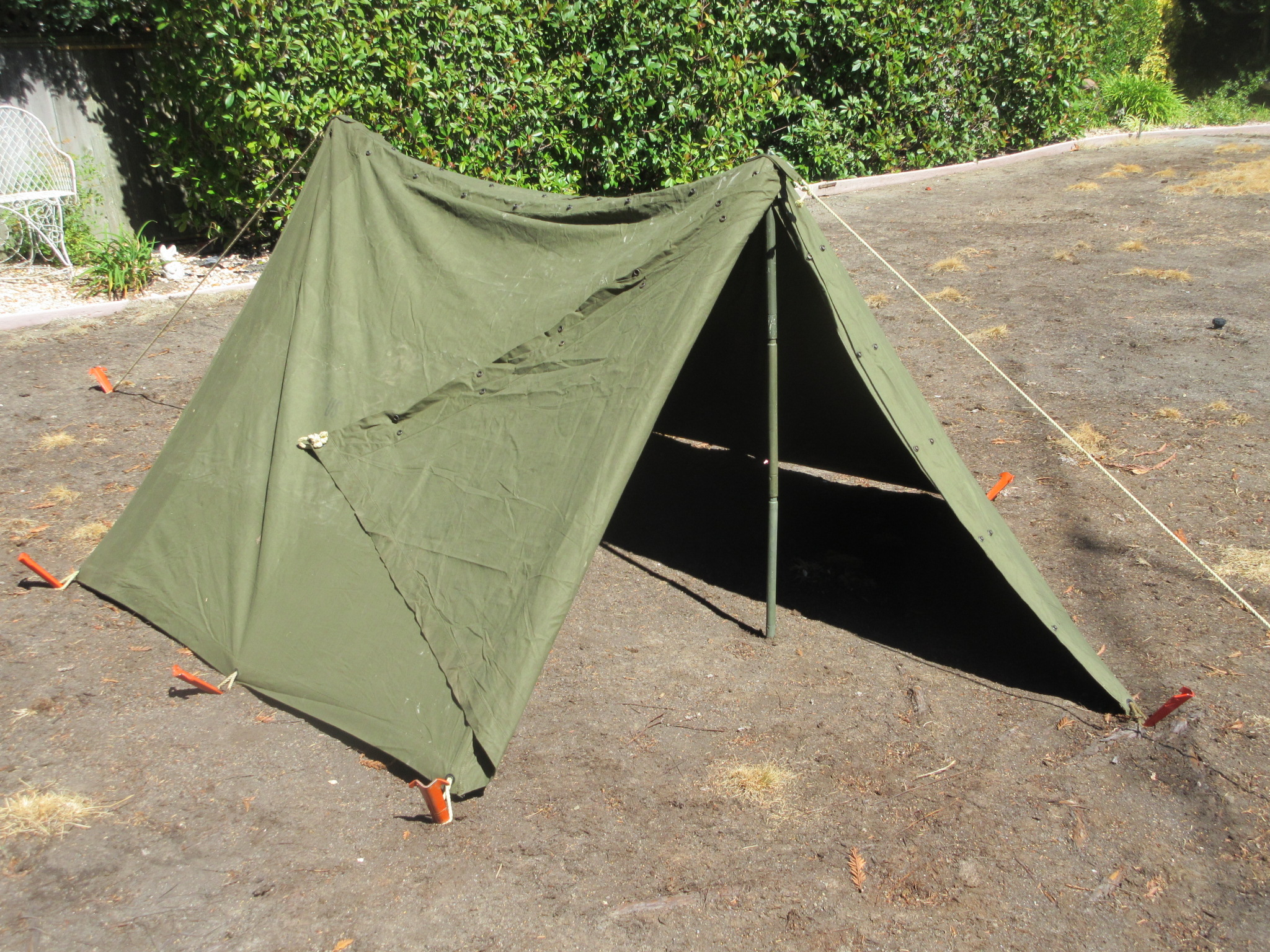 Half Shelter Tent : Emergency kits shelter nav signals etc n cc