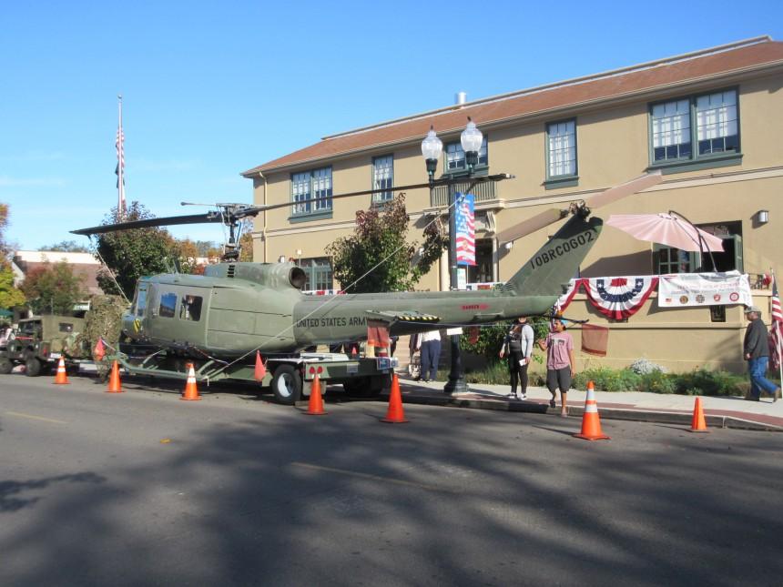 """UH-1H """"Huey"""" at the Danville CA Veterans Memorial Building"""
