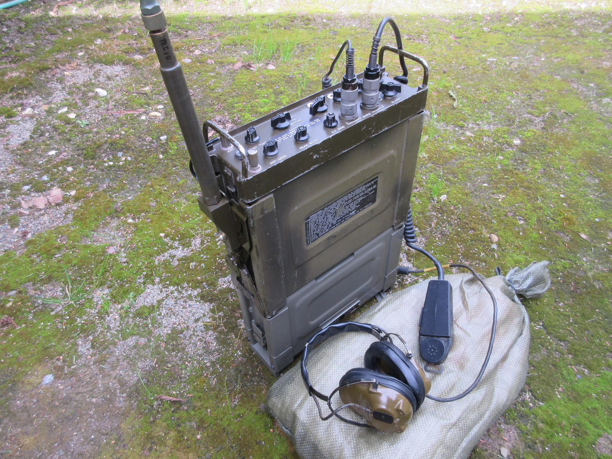 PRC-74B with Whip Antenna Bracket