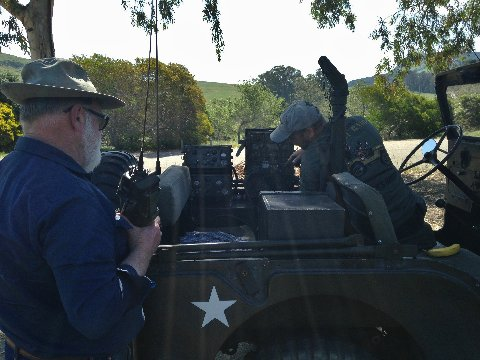 Tuning the GRC-9 in the M-38A1 Jeep