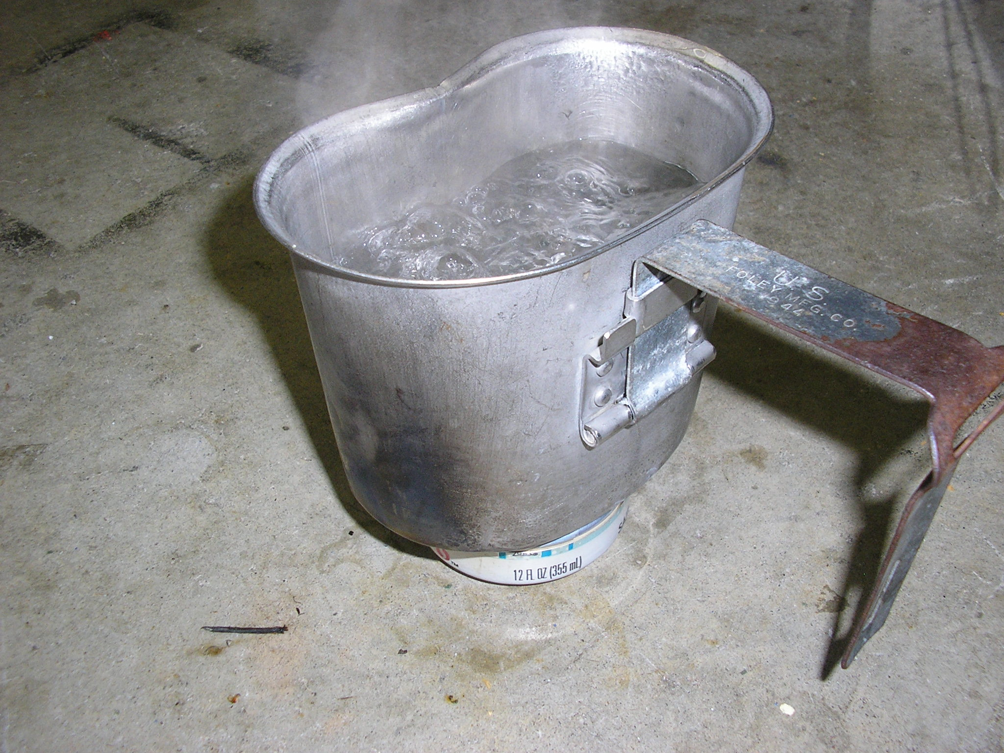 Alcohol Stove direct cup placement