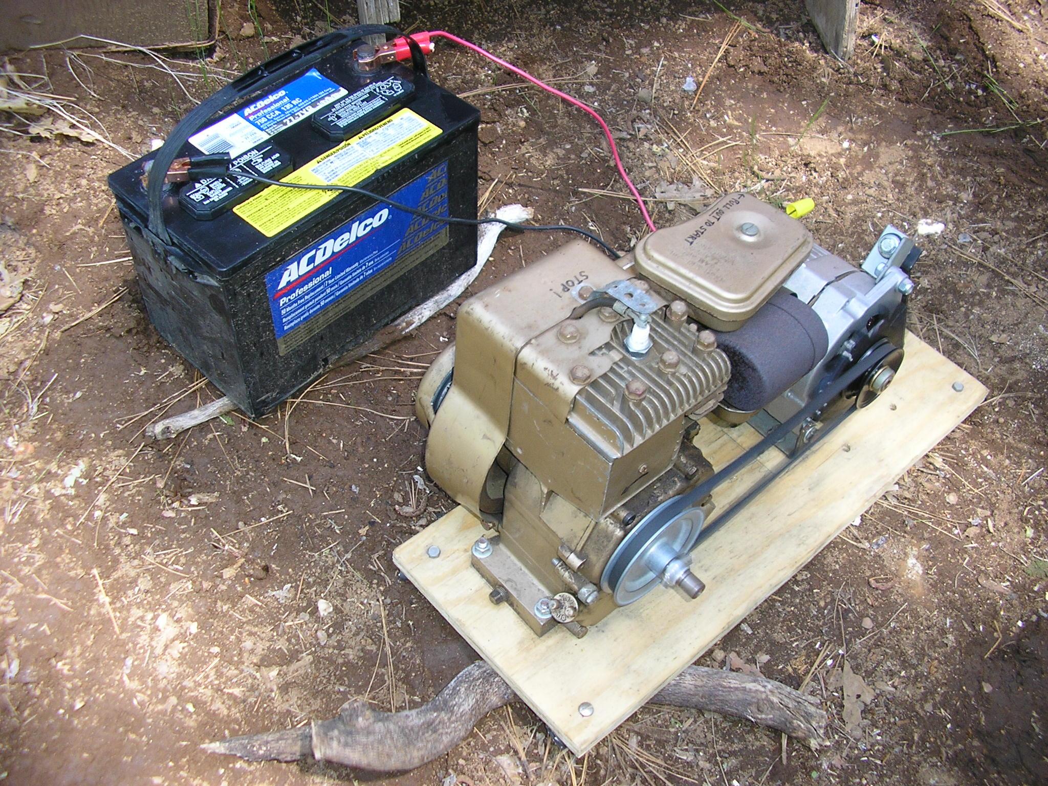 Lawn Mower Generator charging 12V battery