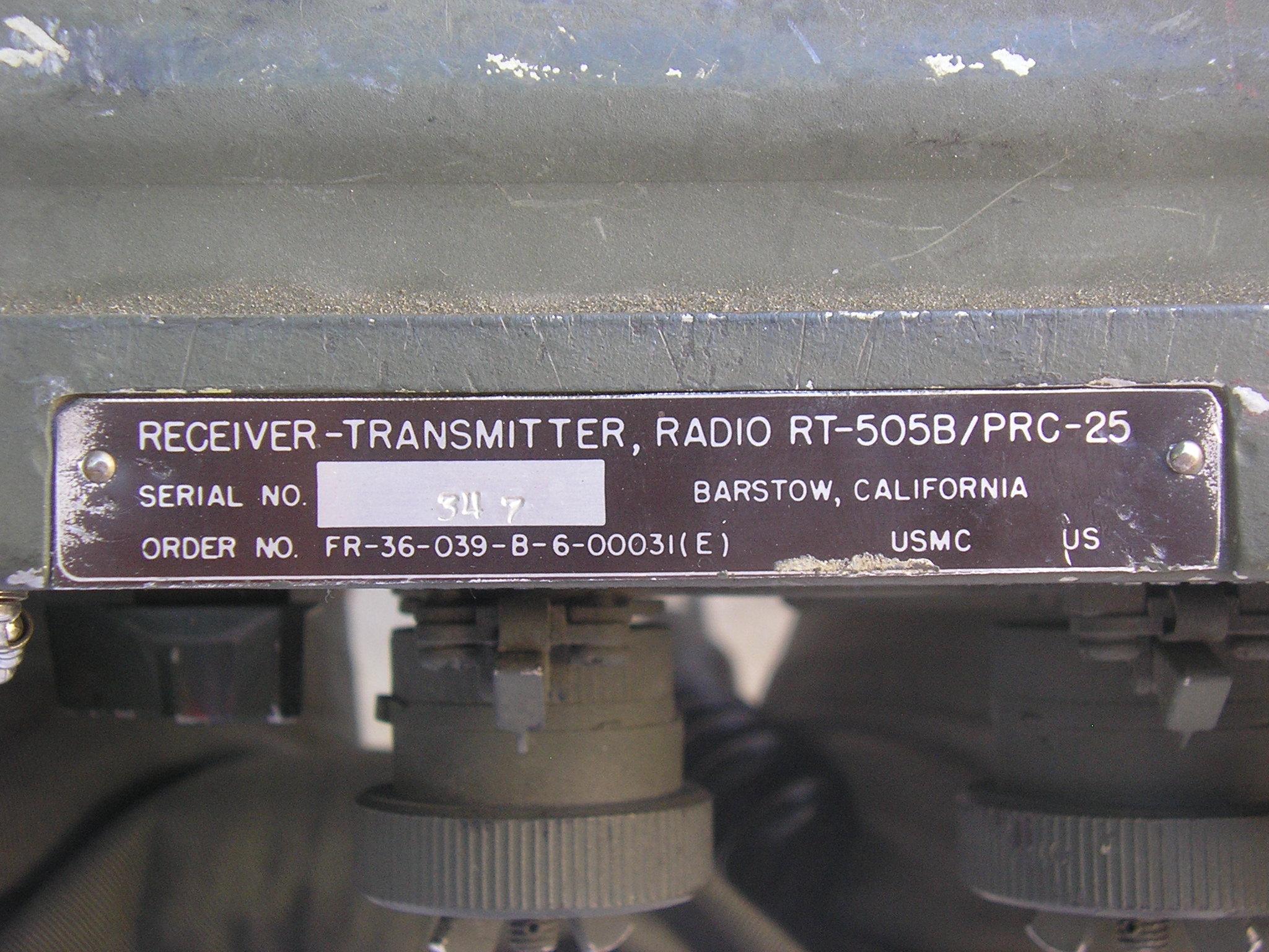RT-505B/PRC-25