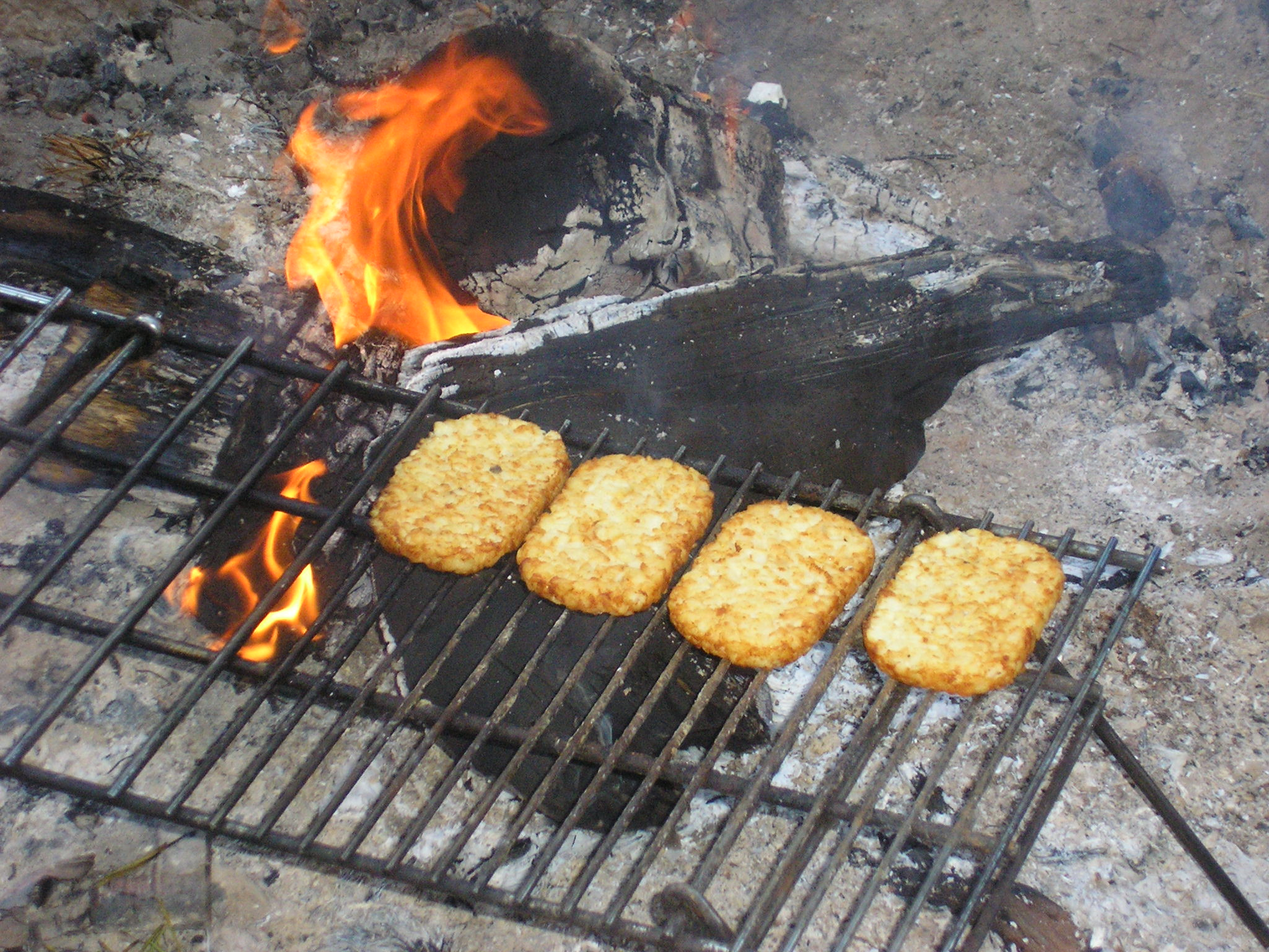 Improvised cooking of Hash Brown Potatoes