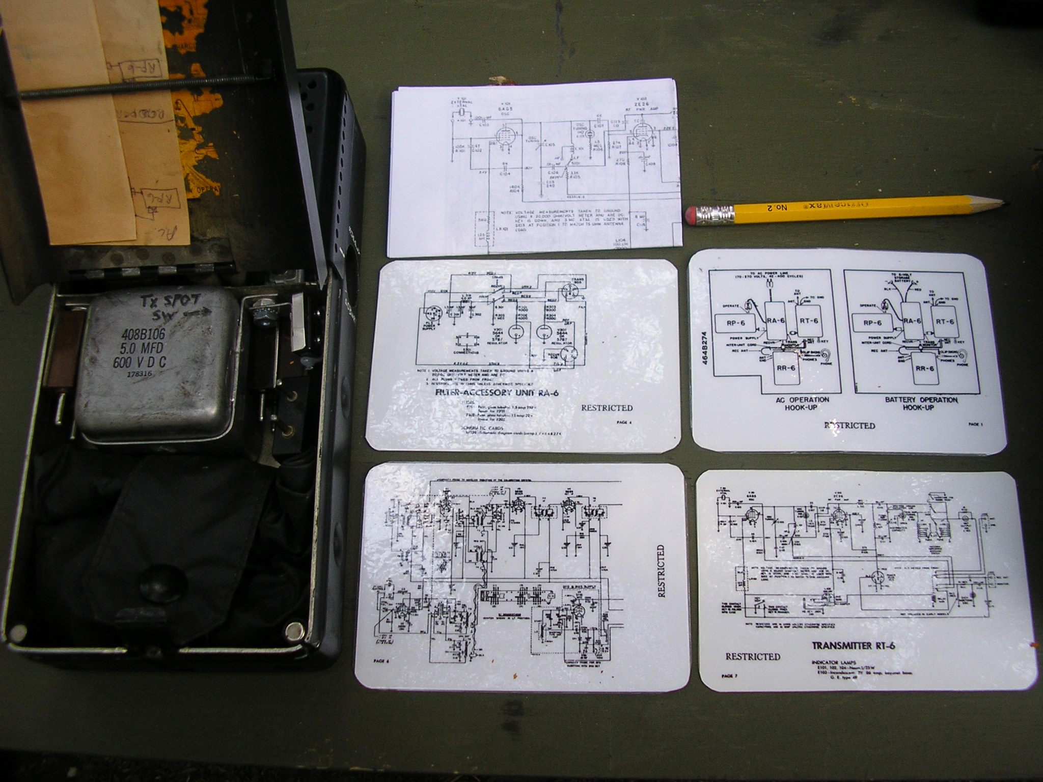RS-6 Schematic Cards