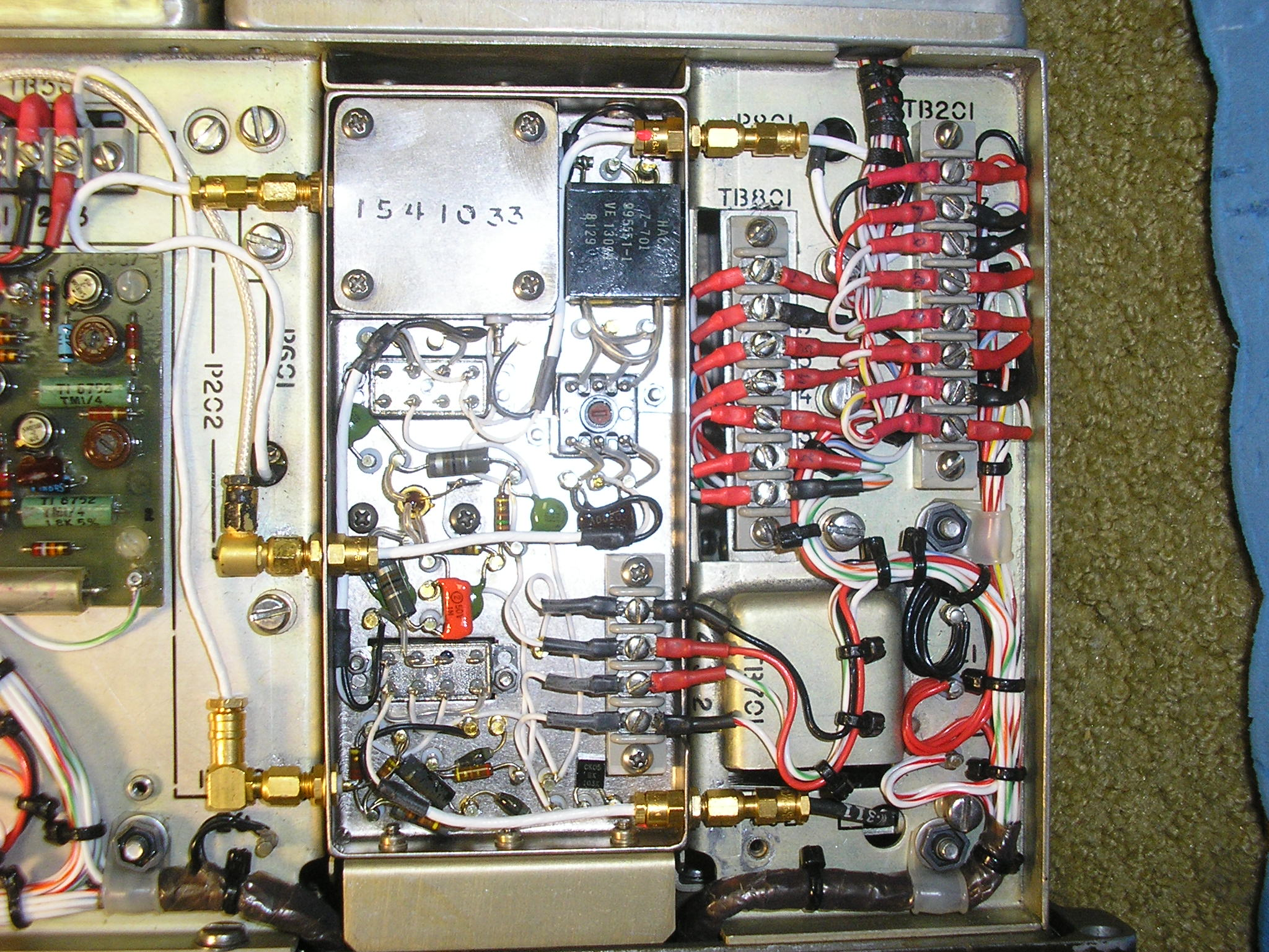 AN/PRC-74B chassis wiring, typical