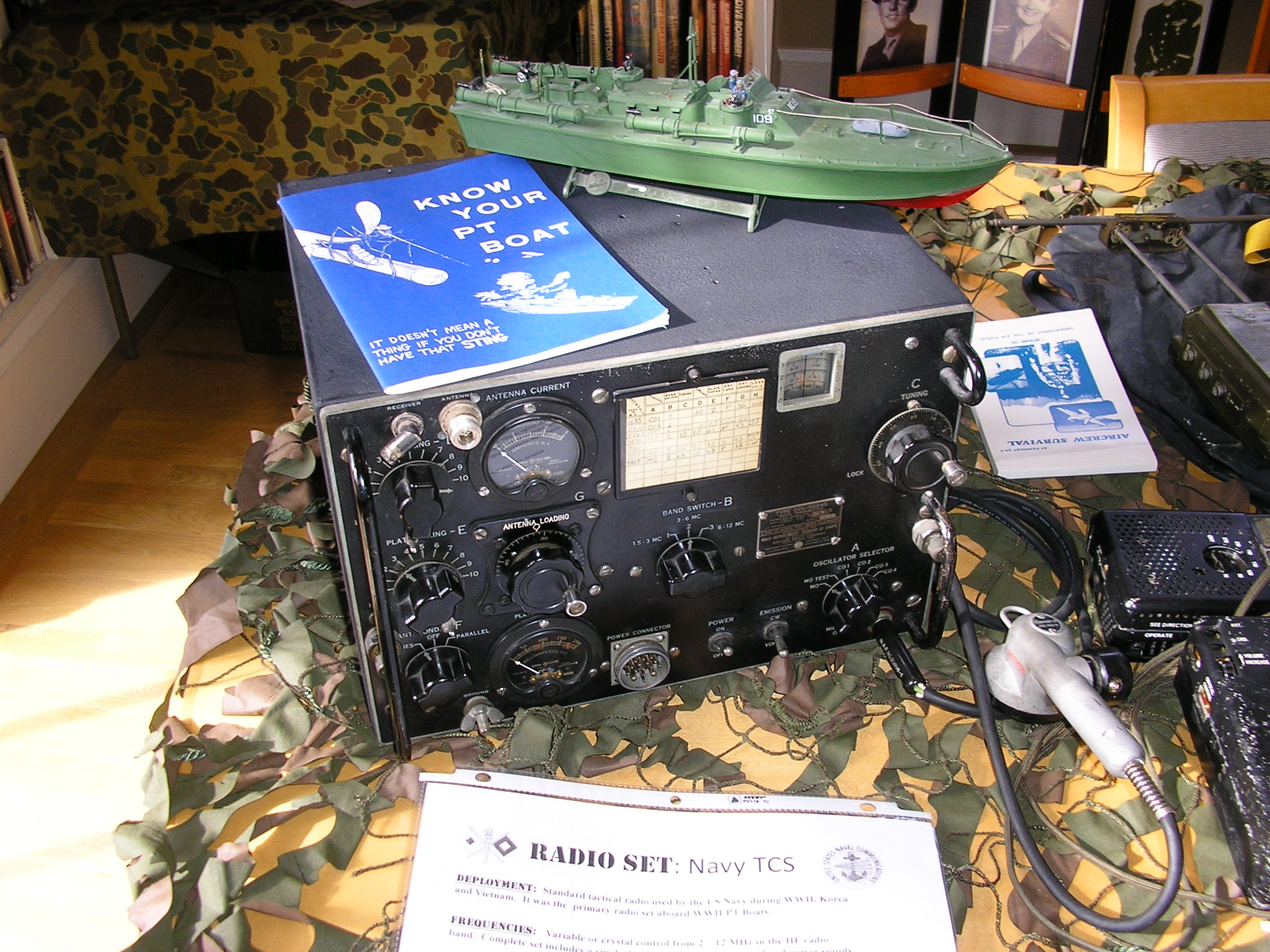 TCS Transmitter as used on WWII PT Boats