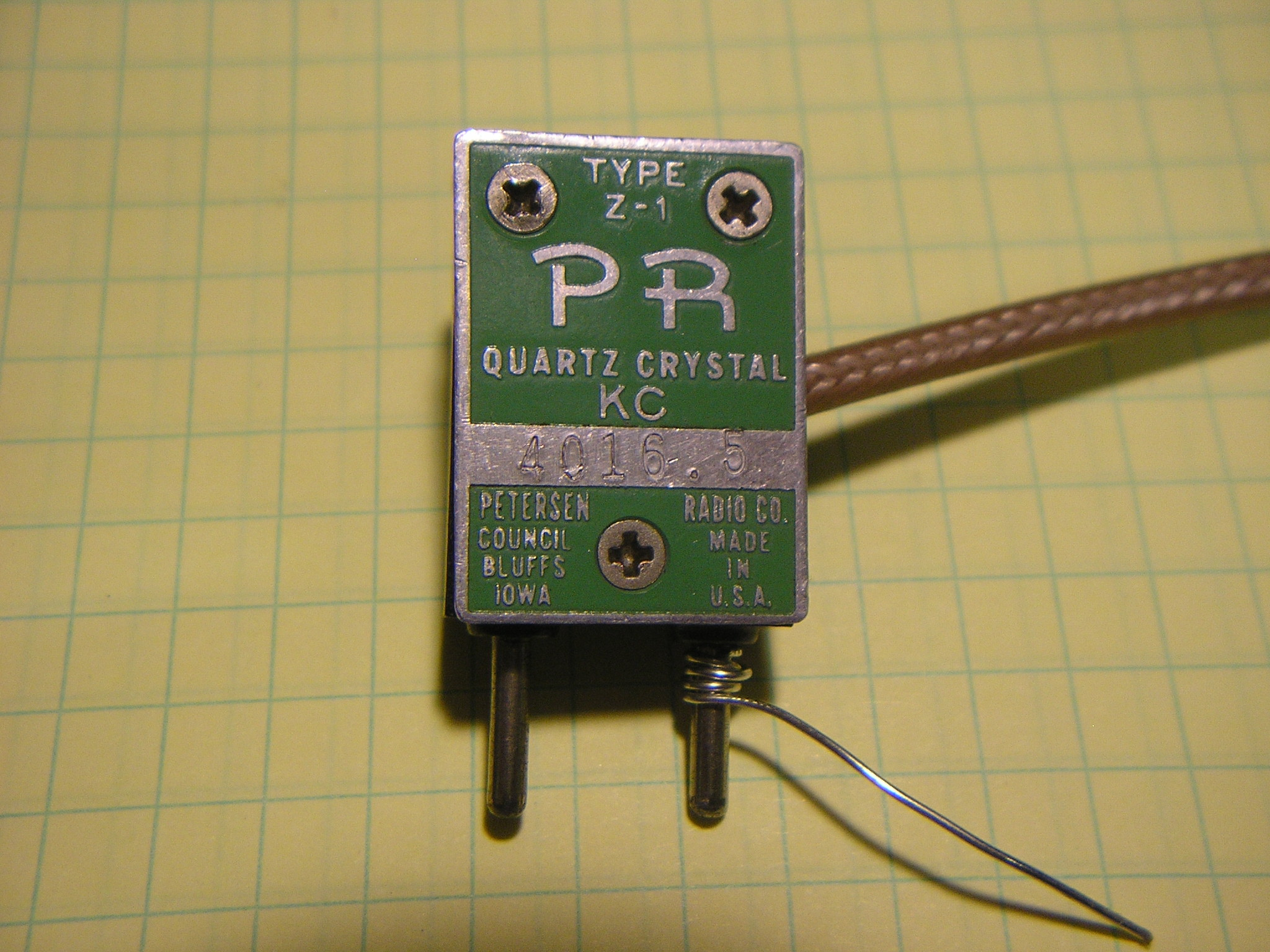 VFO-Crystal socket adapter plug