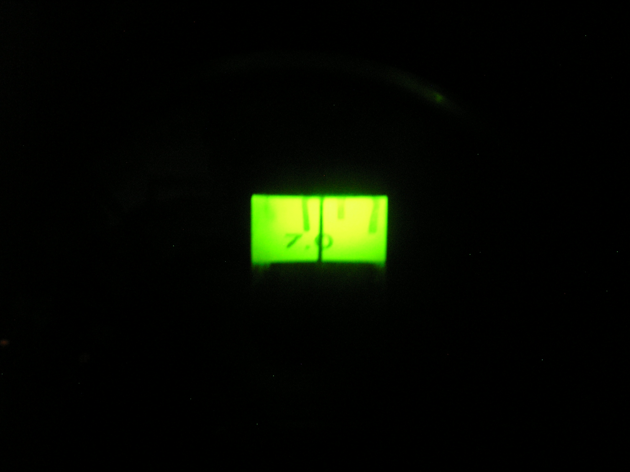 Receiver dial with LED illumination